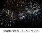 fireworks at night    Shutterstock . vector #1273371214