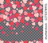 red hearts confetti splash on... | Shutterstock .eps vector #1273378951