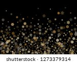 winter snowflakes border card... | Shutterstock .eps vector #1273379314