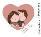 hand draw valentine's day vector | Shutterstock .eps vector #1273381351