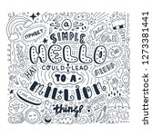 lettering simple hello in...   Shutterstock .eps vector #1273381441