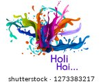 colorful traditional holi... | Shutterstock .eps vector #1273383217