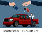 the car dealer's make an... | Shutterstock .eps vector #1273385371