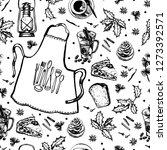 winter graphic hyugge pattern.... | Shutterstock .eps vector #1273392571