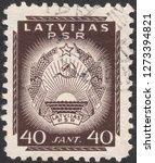 latvia circa 1940 a stamp... | Shutterstock . vector #1273394821