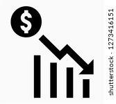 outline dollars recession pixel ... | Shutterstock .eps vector #1273416151