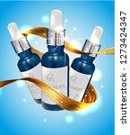 moisturizing serum for dry skin ... | Shutterstock .eps vector #1273424347