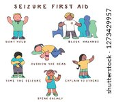 set of kids in seizure first... | Shutterstock .eps vector #1273429957