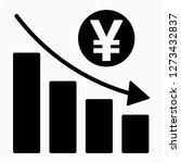 outline yen recession pixel... | Shutterstock .eps vector #1273432837