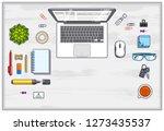 office employee or entrepreneur ... | Shutterstock .eps vector #1273435537