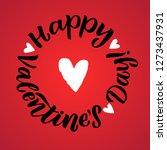 happy valentines day black... | Shutterstock .eps vector #1273437931