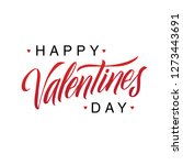 happy valentines day romantic... | Shutterstock .eps vector #1273443691