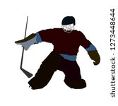 vector silhouette of a hockey... | Shutterstock .eps vector #1273448644