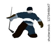 vector silhouette of a hockey... | Shutterstock .eps vector #1273448647