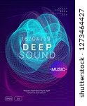 music poster. futuristic... | Shutterstock .eps vector #1273464427