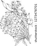 vector illustration of flowers...   Shutterstock .eps vector #1273478701