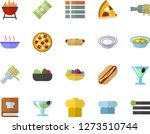 color flat icon set cook hat... | Shutterstock .eps vector #1273510744