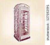 London Pay Phone  Vintage Hand...