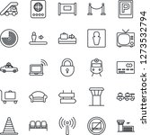 thin line icon set   airport... | Shutterstock .eps vector #1273532794