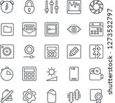 thin line icon set   phone back ...   Shutterstock .eps vector #1273532797