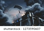 military force with parachute... | Shutterstock . vector #1273590607