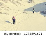 alpinists ascending a snowy... | Shutterstock . vector #1273591621