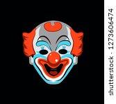 clown mask on a black...   Shutterstock .eps vector #1273606474