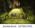 A Small Green House In The...