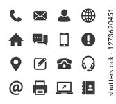 contact us icons vector | Shutterstock .eps vector #1273620451