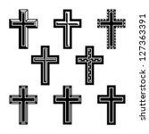 3d,belief,believe,black,catholic,christ,christian,christianity,christmas,church,cross,crucifix,decoration,design,divine