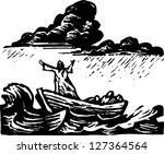 black and white vector...   Shutterstock .eps vector #127364564