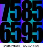 number on gradient background