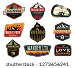 vintage outdoors logos set.... | Shutterstock .eps vector #1273656241