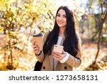 beautiful woman dressed in... | Shutterstock . vector #1273658131