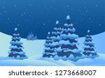 winter landscape. new year.... | Shutterstock .eps vector #1273668007