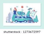 discover the world.travel... | Shutterstock .eps vector #1273672597