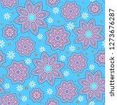 seamless oriental ornamental... | Shutterstock .eps vector #1273676287