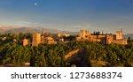 panorama of hilltop alhambra...   Shutterstock . vector #1273688374