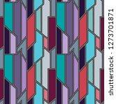 geometric vector blue seamless... | Shutterstock .eps vector #1273701871