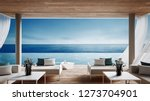 living beach lounge   ocean... | Shutterstock . vector #1273704901