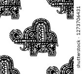 seamless pattern with the image ... | Shutterstock . vector #1273706431