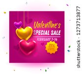romantic valentine's day sale... | Shutterstock .eps vector #1273713877