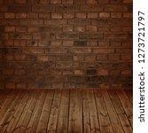 brick wall and wooden floor... | Shutterstock . vector #1273721797