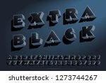 a heavy  dark and bold alphabet ... | Shutterstock .eps vector #1273744267