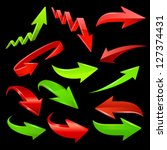 arrow icon set. vector | Shutterstock .eps vector #127374431