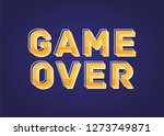 game over vector text...