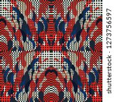quirky tapestry pattern.... | Shutterstock .eps vector #1273756597
