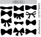 cute freehand bow doodle  black ... | Shutterstock .eps vector #1273778491