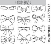 cute freehand bow doodle  black ... | Shutterstock .eps vector #1273779367