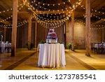 wedding cake at reception | Shutterstock . vector #1273785541